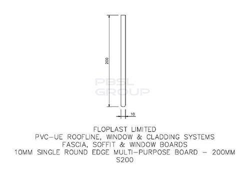 Soffit Board - 200mm x 10mm x 5mtr Golden Oak