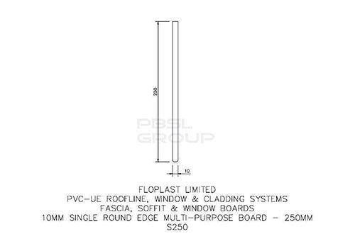 Soffit Board - 250mm x 8mm x 5mtr Black Ash Woodgrain - OUT OF STOCK
