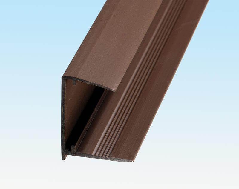 PVC Sheet End Closure - 25mm x 2.1mtr Brown