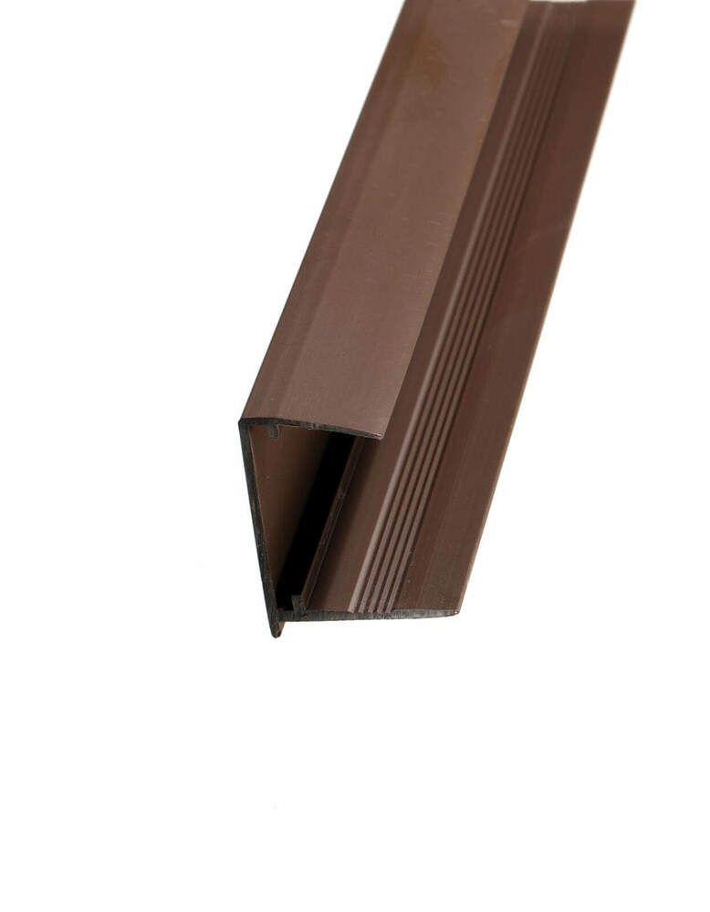 PVC Sheet End Closure - 35mm x 2.1mtr Brown