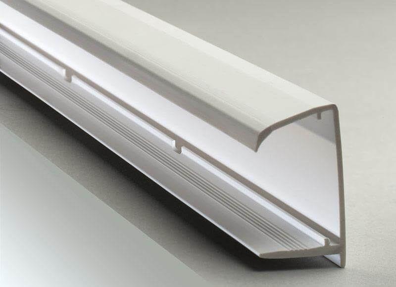 PVC Sheet End Closure - 35mm x 2.1mtr White