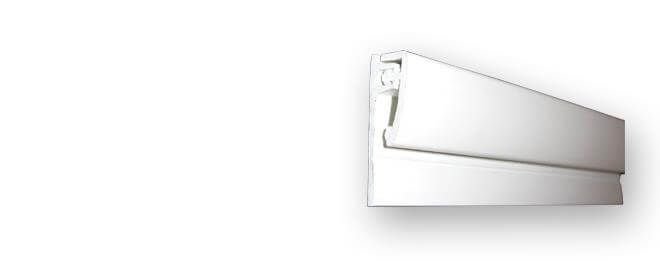 Hygiene Cladding Two Part Starter Trim - for 2-3mm Sheets x 3mtr Length White