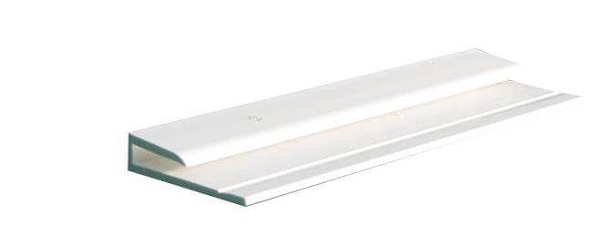 Hygiene Cladding Starter / Finishing Trim - for 2-3mm Sheets x 3mtr Length White