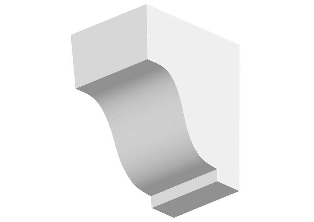 Dentil Block Exterior - 77mm x 120mm x 105mm White
