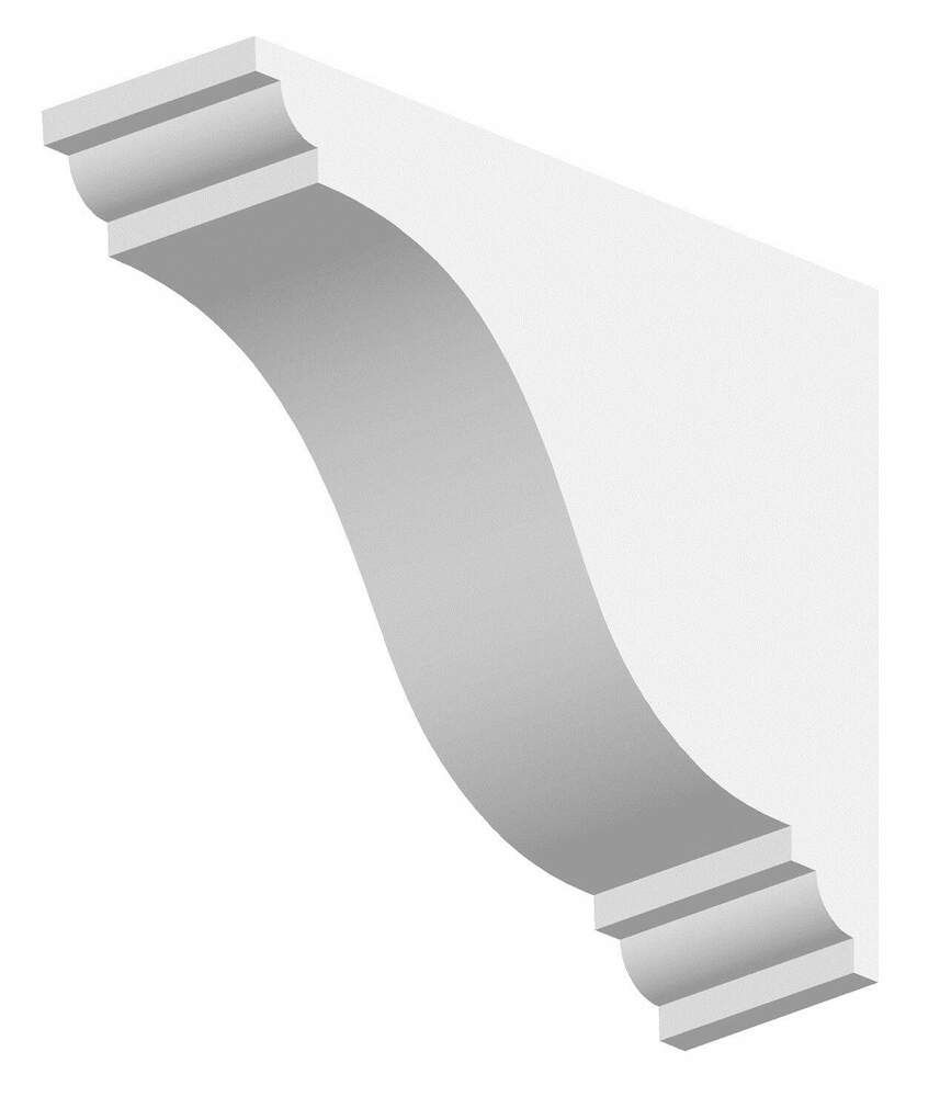Dentil Block Exterior - 77mm x 250mm x 200mm White