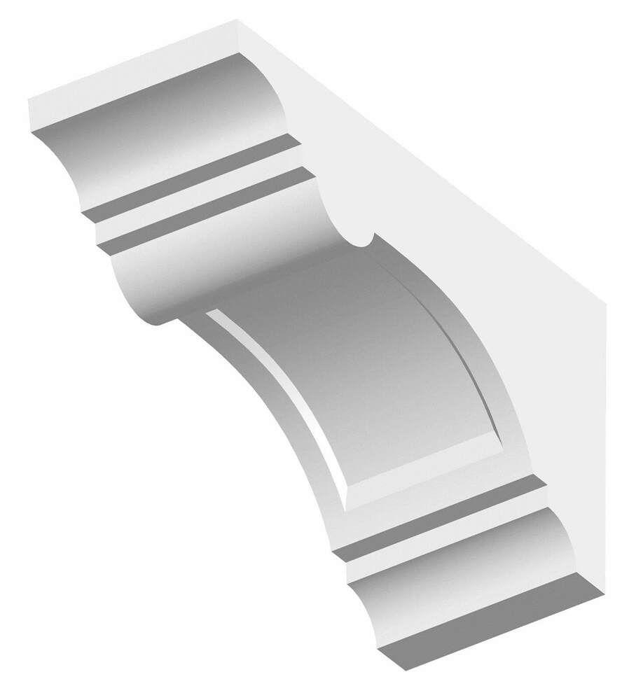 Dentil Block Exterior - 100mm x 135mm x 255mm White