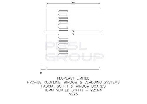 Vented Soffit Board - 225mm x 10mm x 5mtr Golden Oak