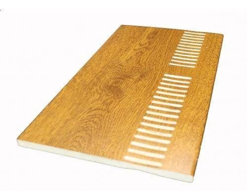 Vented Soffit Board - 304mm x 10mm x 5mtr Golden Oak
