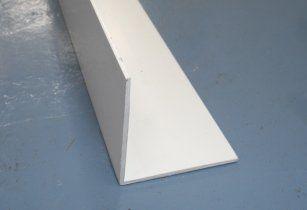 PVC Rigid Angle - 50mm x 5mtr White
