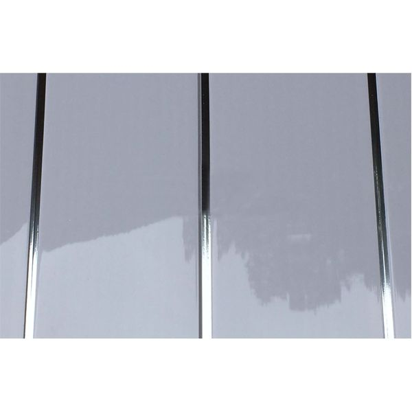 Ceiling Cladding Aqua200 PVC Panel - 200mm x 4000mm x 6mm White Gloss Silver Embedded - Pack of 5