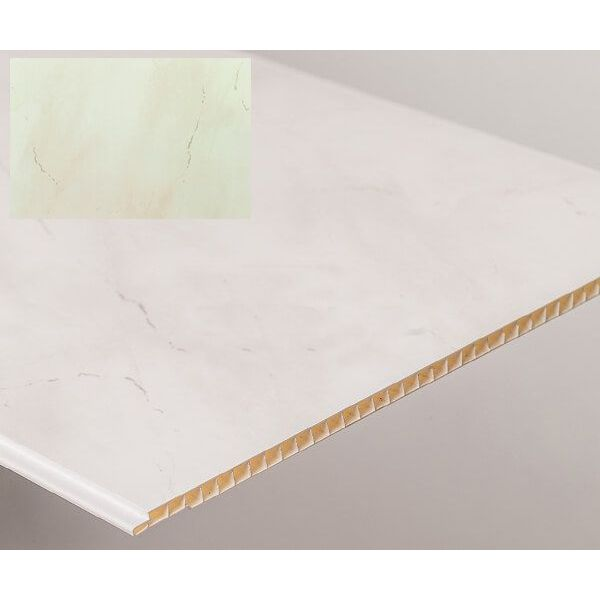 Bathroom & Kitchen Cladding Aqua250 PVC Panel - 250mm x 2700mm x 5mm Light Grey Marble - Pack of 4