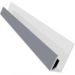 Weatherboard Cladding Universal Edge Trim - 3mtr Storm Grey