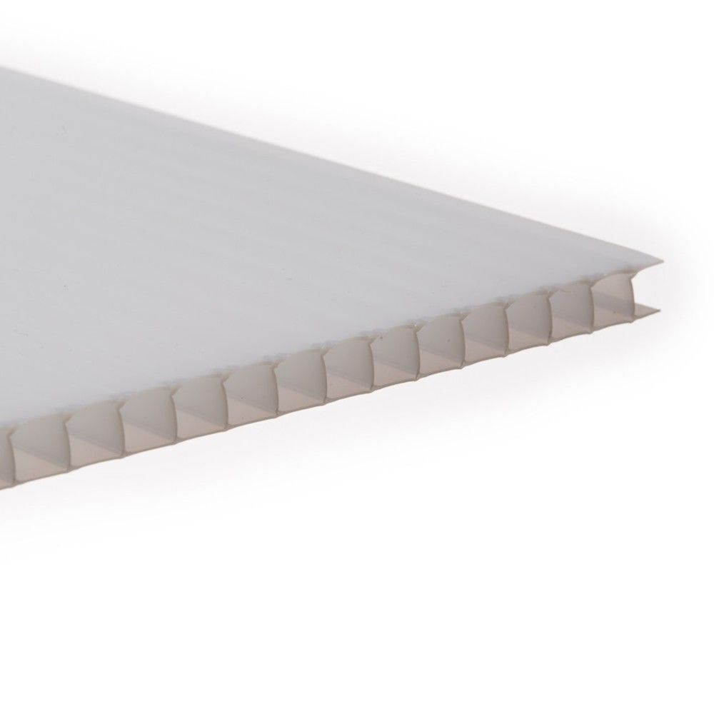 Polycarbonate Sheet Twinwall - 10mm x 1000mm x 2mtr Opal