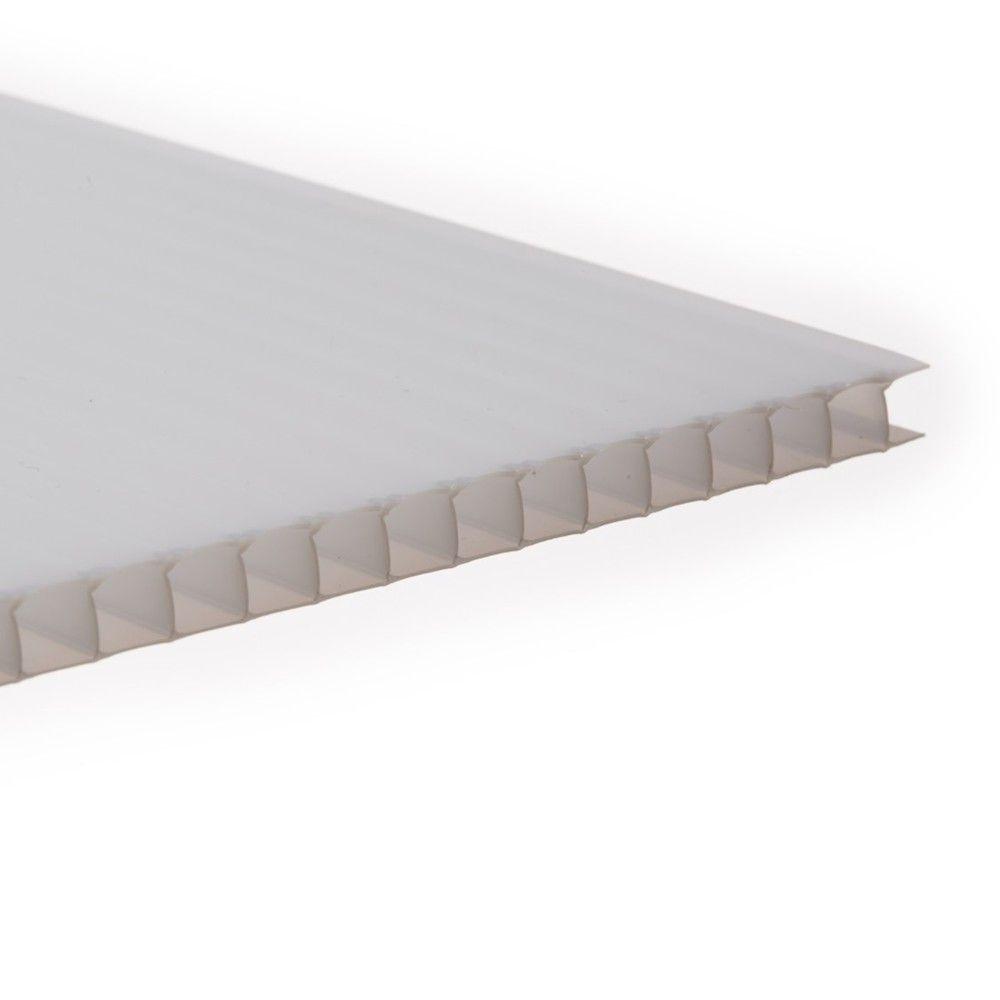 Polycarbonate Sheet Twinwall - 10mm x 600mm x 3mtr Opal
