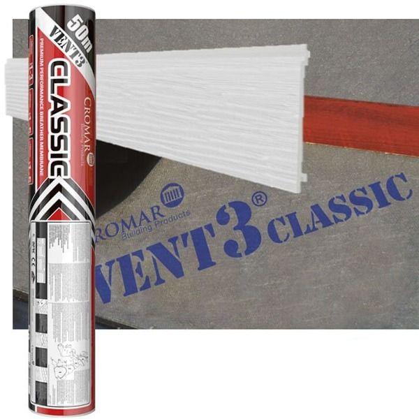 Breather Membrane Vent 3 Classic - 1mtr x 50mtr x 115gsm