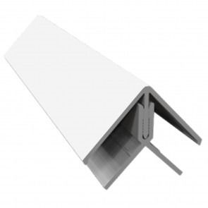 Weatherboard Cladding Two Part External Corner - White