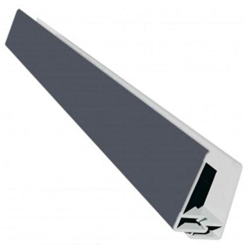 Weatherboard Cladding Two Part Edge Trim - 3mtr Slate Grey