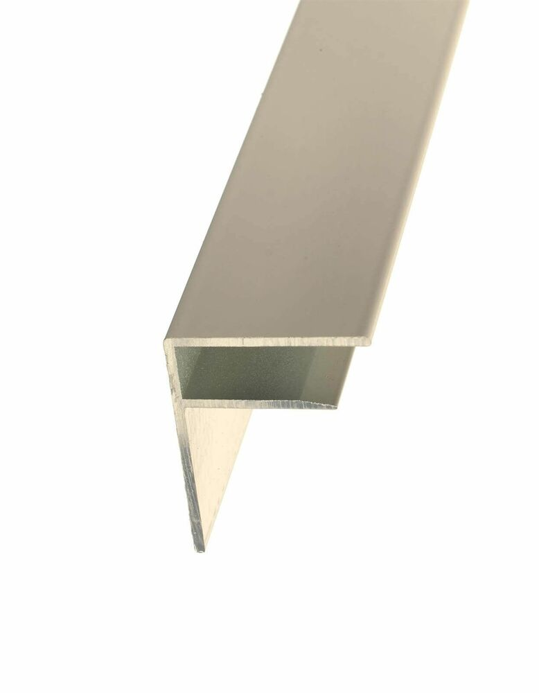 Aluminium F Section - 35mm x 4mtr White - OUT OF STOCK