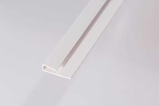 Bathroom & Kitchen Cladding Aqua PVC Panel Starter Trim U Channel for Wall/ Ceiling - 2700mm White