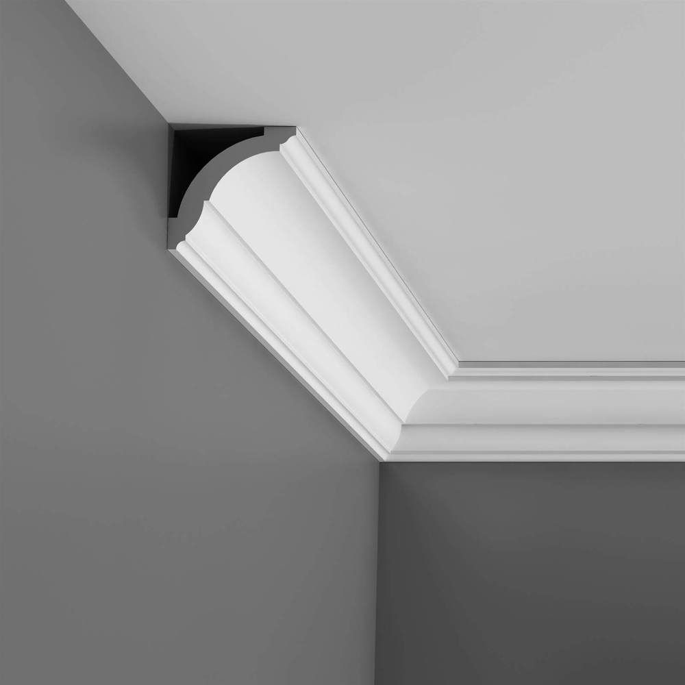 Cornice Moulding Axxent Collection - 2000mm x 70mm x 70mm Oxford Style White