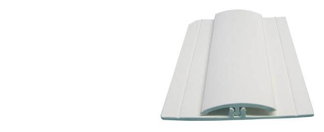 Hygiene Cladding Two Part Joint Strip - for 2-3mm Sheets x 3mtr Length White