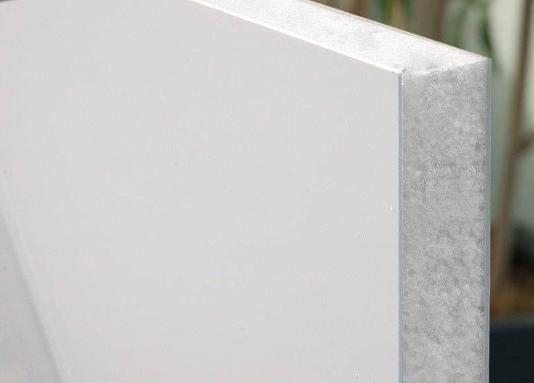 Flat Door Panel Non-Reinforced - 750mm x 750mm x 24mm Polar White - OUT OF STOCK