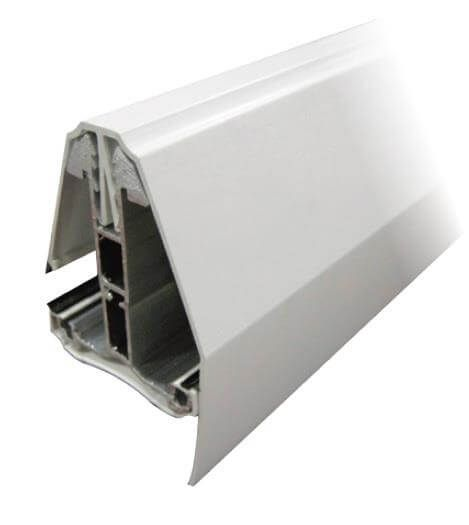 Rafter Bar End Bar Self Supported - 2.5mtr White