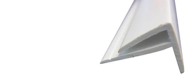 Hygiene Cladding External Corner - for 2-3mm Sheets x 3mtr Length White