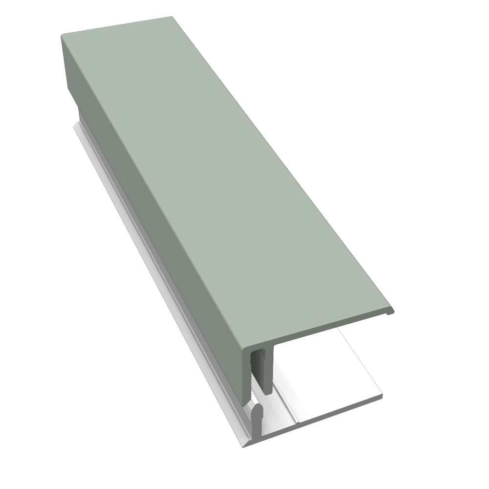 Weatherboard Cladding Two Part Edge Trim - 3mtr Sage Green