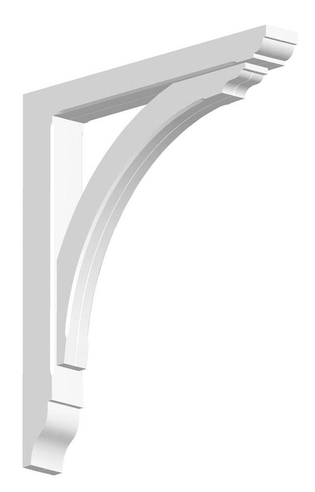 Gallows Bracket Exterior - 70mm x 630mm x 580mm White