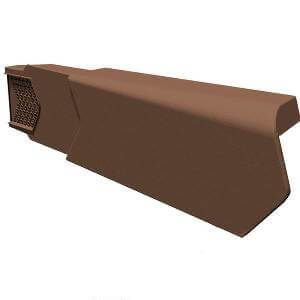 Dry Verge Unit Left Hand - Brown