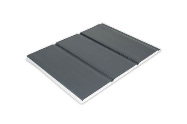 Hollow Soffit Board - 300mm x 10mm x 5mtr Anthracite Grey Woodgrain