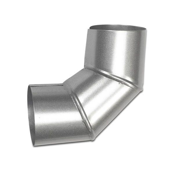 Steel Downpipe Bend - 90 Degree x 87mm Galvanised