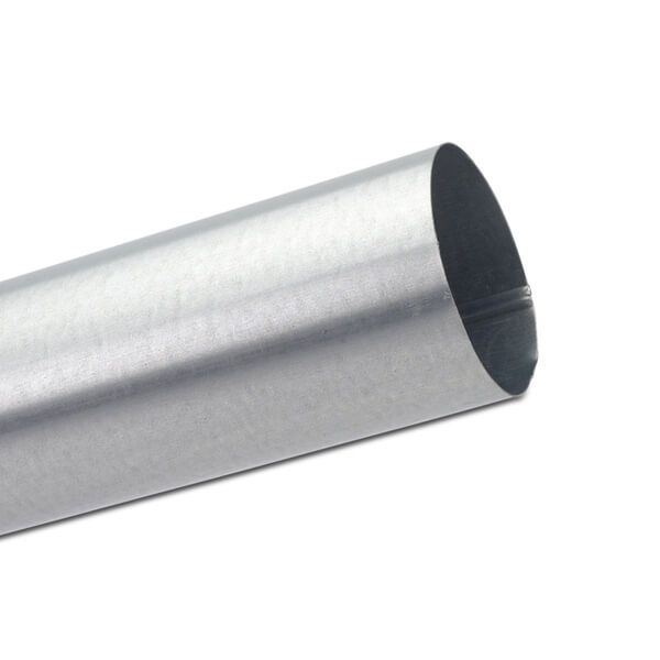 Steel Downpipe - 87mm x 3mtr Galvanised
