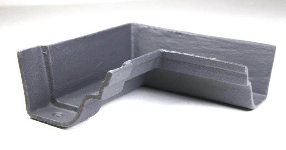 Cast Iron Notts Ogee Gutter Internal Angle - 90 Degree x 115mm Primed