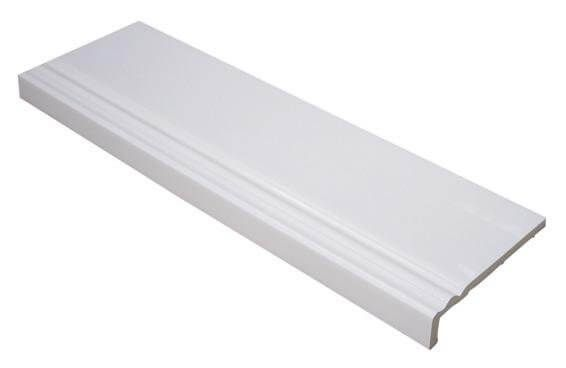 Ogee Cover Board - 225mm x 9mm x 5mtr White - Pack of 2