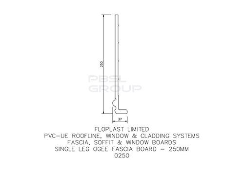 Ogee Cover Board - 250mm x 9mm x 5mtr White - Pack of 2