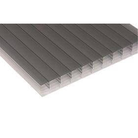 Polycarbonate Sheet Multiwall - 25mm x 1050mm x 2.5mtr Bronze/ Opal