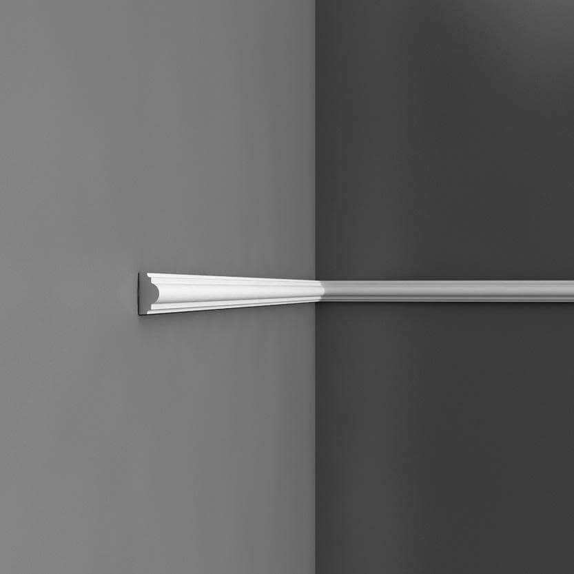 Panel Moulding Axxent Collection - 2000mm x 25mm x 15mm White