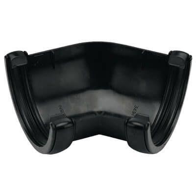 Half Round Gutter Angle - 135 Degree x 112mm Black