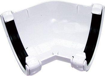 Half Round Gutter Angle - 135 Degree x 112mm White