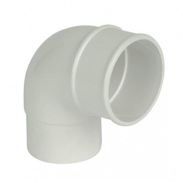 Round Downpipe Bend - 92.5 Degree x 68mm White