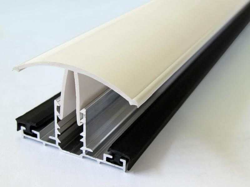 PVC Capped Rafter Bar Rafter Supported - 6mtr White