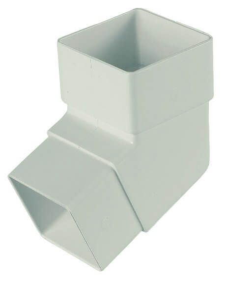 Square Downpipe Offset Bend - 112 Degree White