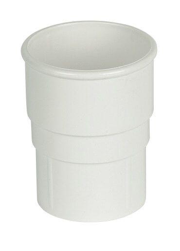 Round Downpipe Socket - 68mm White