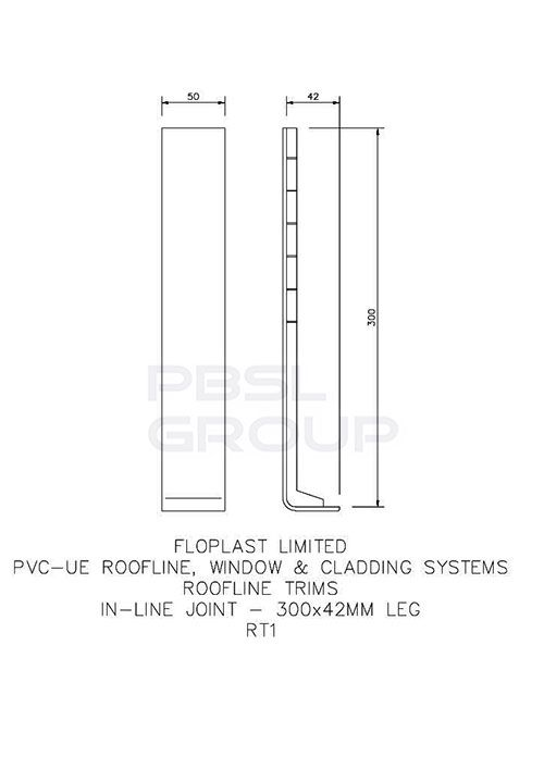 Cover Board Joint - 300mm White - OUT OF STOCK