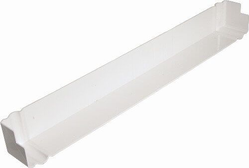 Ogee Fascia Corner Double Ended - 500mm White