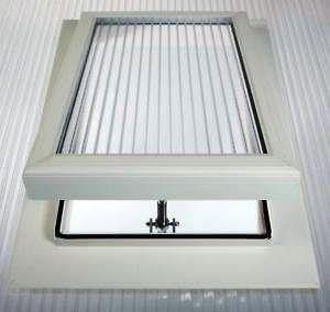 Roof Vent - for 16mmm Polycarbonate Sheet White