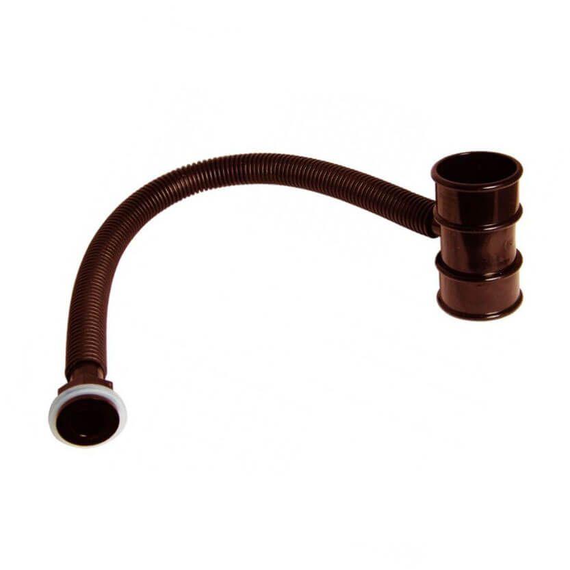 Mini Gutter Rain Diverter - 50mm Brown