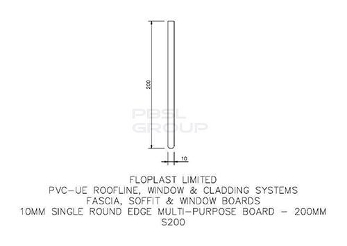 Soffit Board - 200mm x 10mm x 5mtr Anthracite Grey Woodgrain - OUT OF STOCK